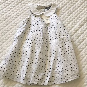Baby Gap white pleated print dress